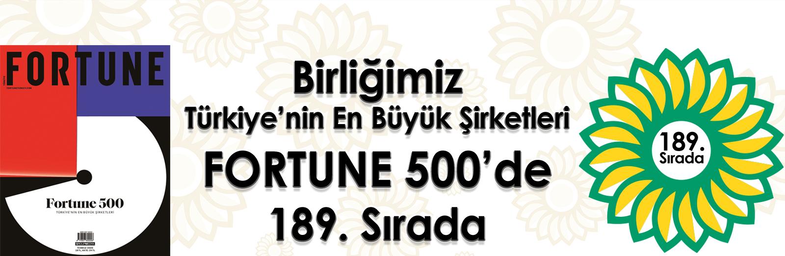 BİRLİĞİMİZ 500 BÜYÜK ARASINDA 189.SIRADA....